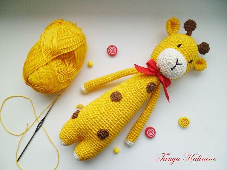 Яркий жирафик для солнечного настроения #amigurumi #toys #жирафкрючком