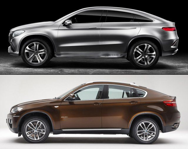 2015 Mercedes Concept Coupe Suv Vs 2015 Bmw X6 Cars