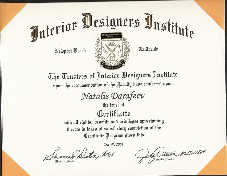 Online Interior Design Certificate #1 Here you go, then you can a least tell the truth.
