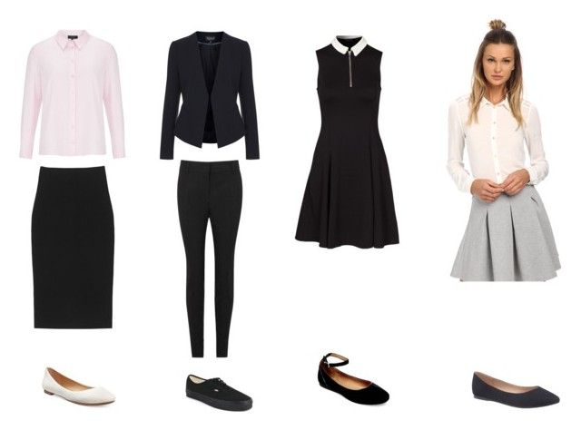 """""""Friday, February 12 - Smart Casual/Business - Female"""" by evejo on Polyvore featuring Viyella, Cushnie Et Ochs, Topshop, New Look, Alfani, Schumacher, Steve Madden, Vans, ONLY and Lane Bryant"""