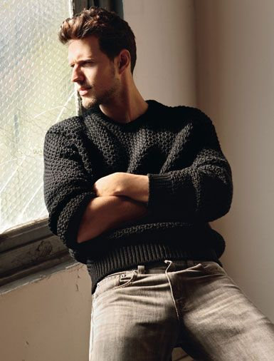 Sweater by Prada. Jeans by Levi's. Photo by John Balsom