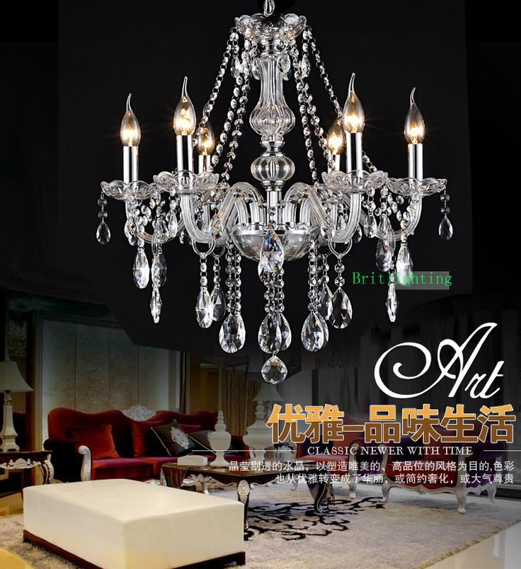 modern crystal chandelier traditional glass arm crystal chandelier 6lights Empire Mini Crystal Chandelier Chrome Finish US $58.00
