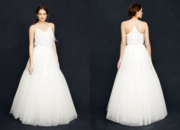 Five wedding dresses under 500 vol 24 tulle balls and for Tulle skirt under wedding dress