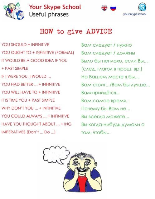 how to give #advice in ENglish #russian