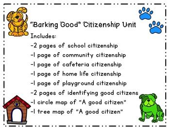 This bundle includes everything you need to teach basic citizenship skills and concepts in the primary grades in a fun filled dog theme! Perfect for the beginning of the school year to discuss proper behaviors and classroom norms, as well as to hit on those primary grade social studies citizenship standards!