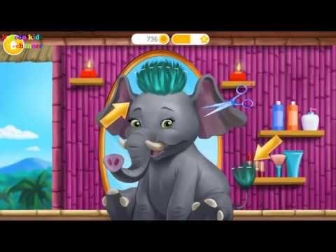 Fun Baby Care Kids Game Jungle Animal Hair Salon Wild Pets Haircut Cool Baby Stuff Jungle Animals Pet Hair