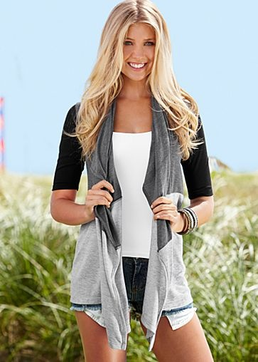 Jacket: Cute Tops, Blocks Wraps, Fashion Style, Cute Outfits, Jackets, Hot Style, Tops Style, Women Tops, Colors Blocks