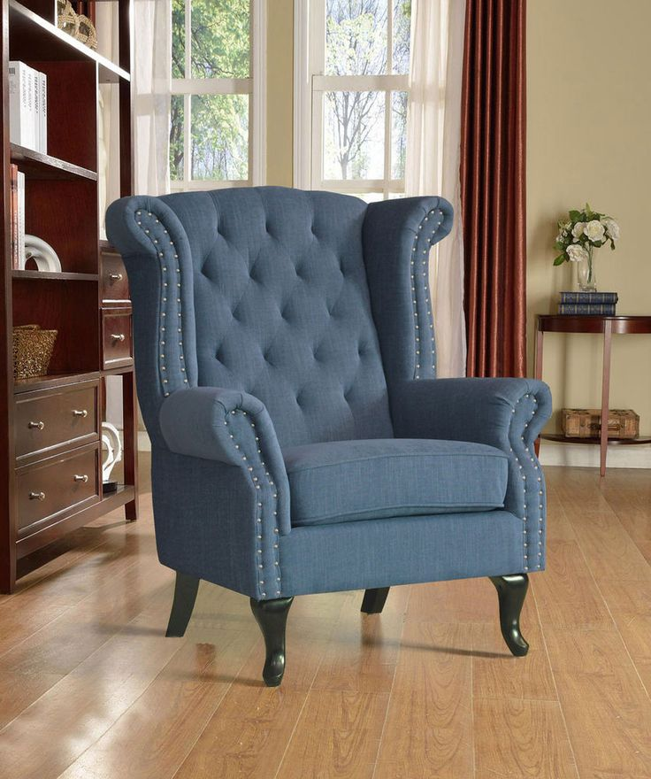 Details about new roxy luxury fabric fireside wingback