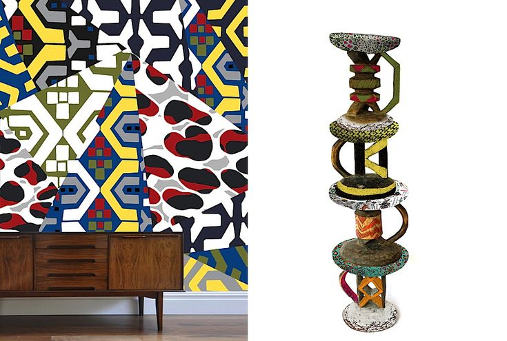 Left - Kristen Morkel - Right- The Batonka Stool Totem by Ardmore