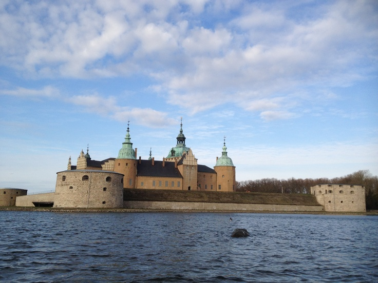 The medieval Castle in the city of Kalmar  Photo from April 9 2012.