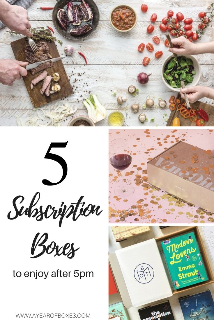 Top 5 Subscription Boxes to Enjoy After 5 PM https://www.ayearofboxes.com/subscription-box-lists/top-5-subscription-boxes-to-enjoy-after-5-pm/