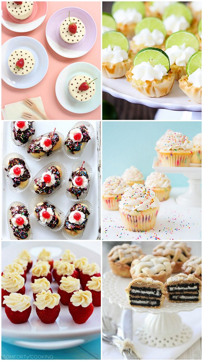 BEST MINI DESSERTS for a crowd! Save for party planning!Desserts Birthday, Dessert Ideas For Baby Shower, Best Desserts For A Crowd, Baby Shower Catering Ideas, Bites Size, Dessert Recipes For Parties, Bite Size Desserts, Cheesecake Stuffed, Bites S Desserts