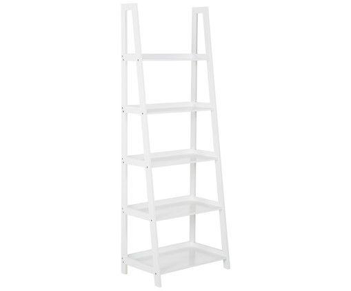 Leiter Regal Wally, Weiß, Breite: 56 cm, Höhe: 187cm, 90€