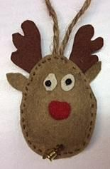 Felt ornament: Reindeer, made by Fruzsi
