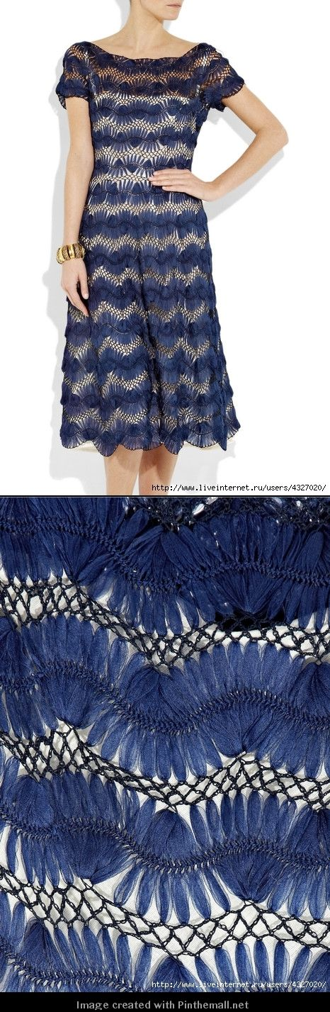 another gorgeous hairpin crochet lace dress...