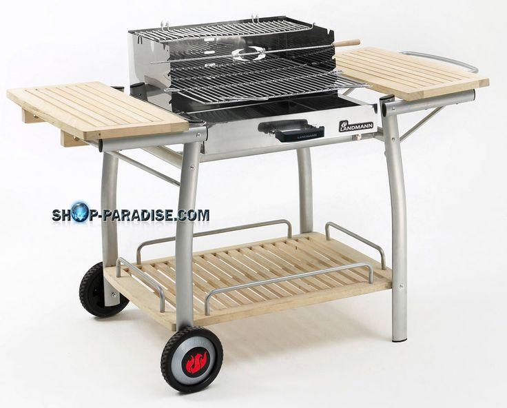 SHOP-PARADISE.COM:  Grillwagen Landmann elegante Holz-Stahl-Kombination 218,48 €