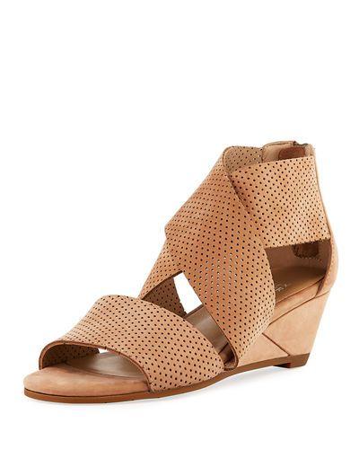 36fad83252db X3ZCU Eileen Fisher Kes 2 Perforated Wedge Sandal