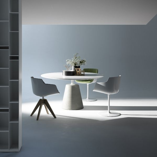 the mdf italia rock dining table was designed by jeanmarie massaud for furniture mdf massaud graduated in from les a