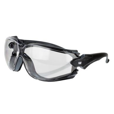 The CAT Torque Safety Glasses are EN 166 certified. They're constructed with lightweight plastic frames and a foam lining for dust free comfort whilst wearing. The lenses feature 99% UV absorption, plus an anti-fog and anti-scratch finish.