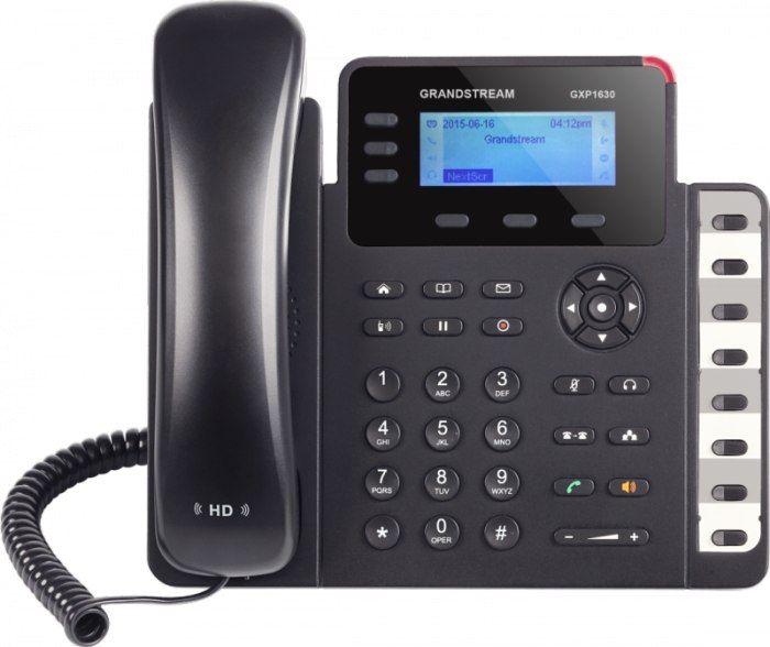 Grandstream GXP1630 GXP1630 3 линии, 3 SIP аккаунта, индикация 3 вызовов, 3 программируемые клавишиДва коммутируемых гигабитных сетевых порта 10/100/1000Mbps8 двухцветных клавиш BLF для быстрого набораВстроенный PoE для питания телефона и обеспечения сетевого подключенияЗвук формата HD для максимального качества аудио, полнодуплексный громкоговорительИспользование с местными IP-АТС серии UCM Grandstream для создания сети без настроек (Zero Config)Поддержка электронного переключателя (EHS)…