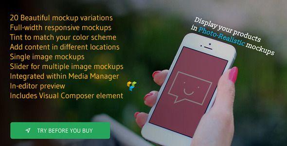 Photo Real Responsive Product Mockups - http://bit.ly/23qzXmq