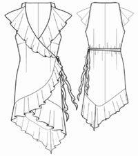 summer dress/ free download pattern/ size S M L XL