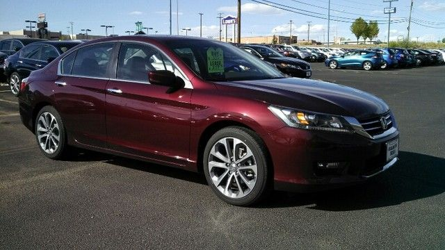 The sleek 2014 Honda accord Sport dressed in a Basque Red Pearl