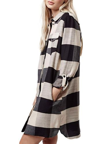 Oversized Check Shirt Dress | Hudson's Bay