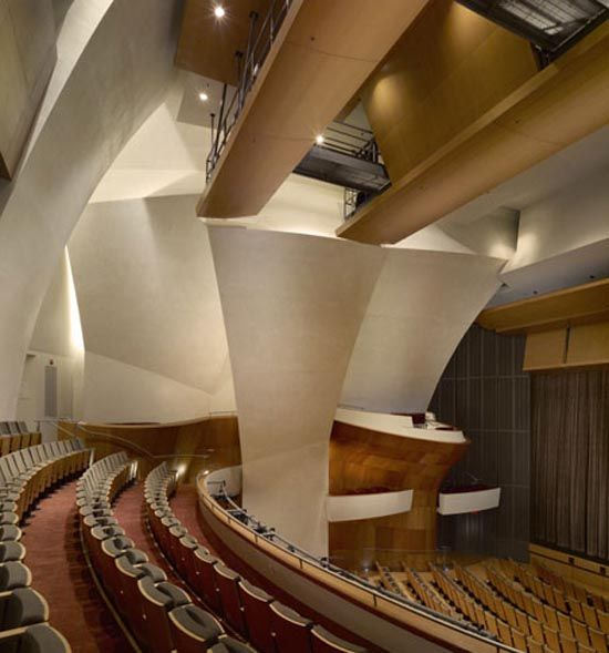 The Eli and Edythe Broad Stage Theater Interior Tribune by Renzo Zecchetto Architects