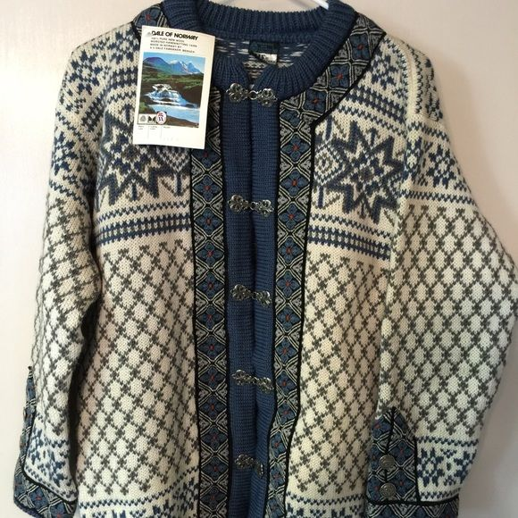 Vintage Dale of Norway Sweaters - Rare Vint Dale Of Norway Handmade Wool Sweater NWT