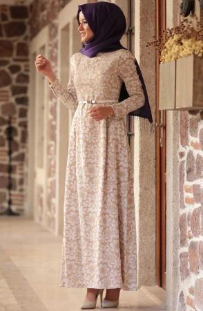 Amine Hüma Cansu Krem Elbise 3106