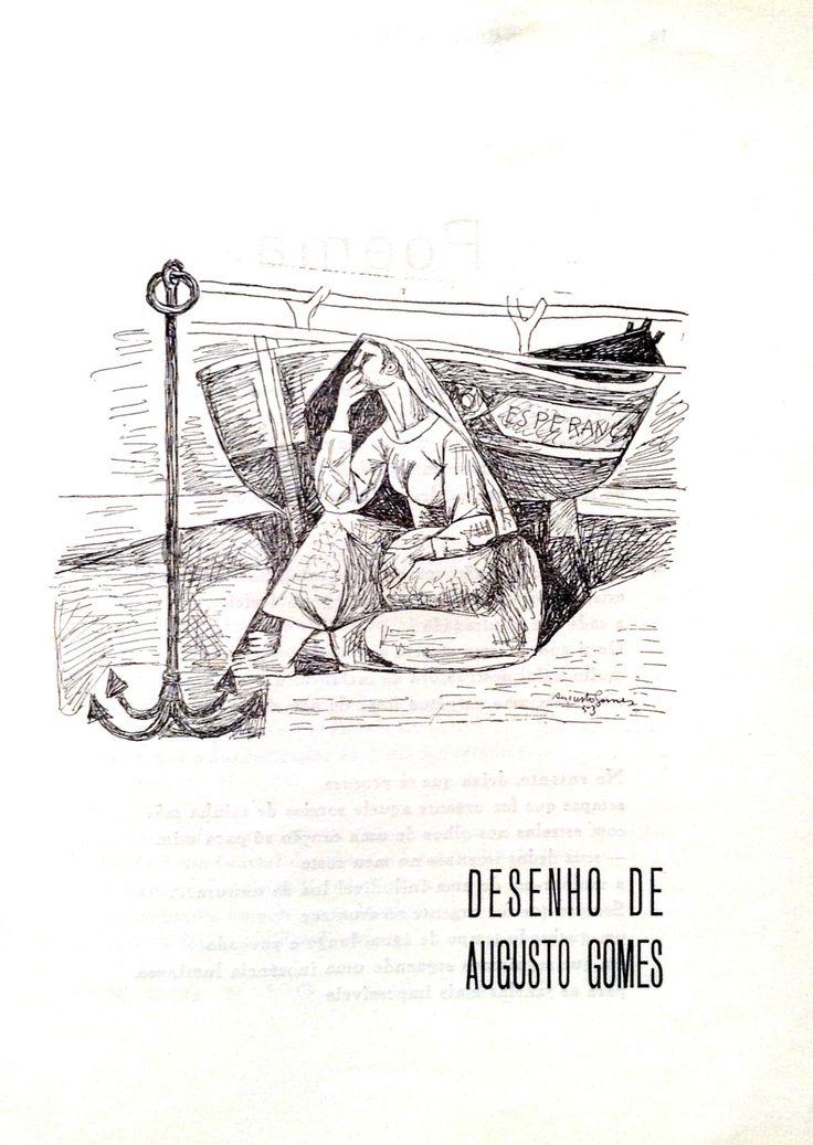 Esperança, o sentimento que impera em 2017. Bandarra º16, Artes e Letras Ibéricas 1956, desenho de Augusto Gomes