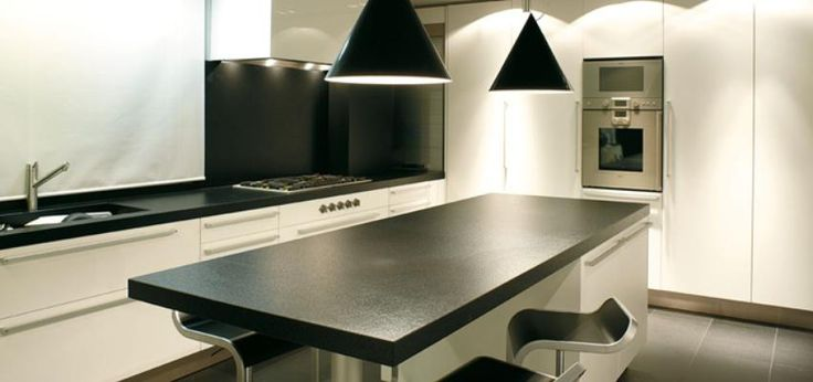 white and black in kitchen