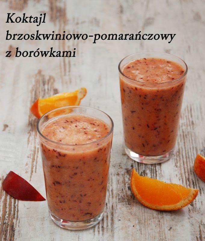Galeria Smaku: Koktajl brzoskwiniowo-pomarańczowy z borówkami