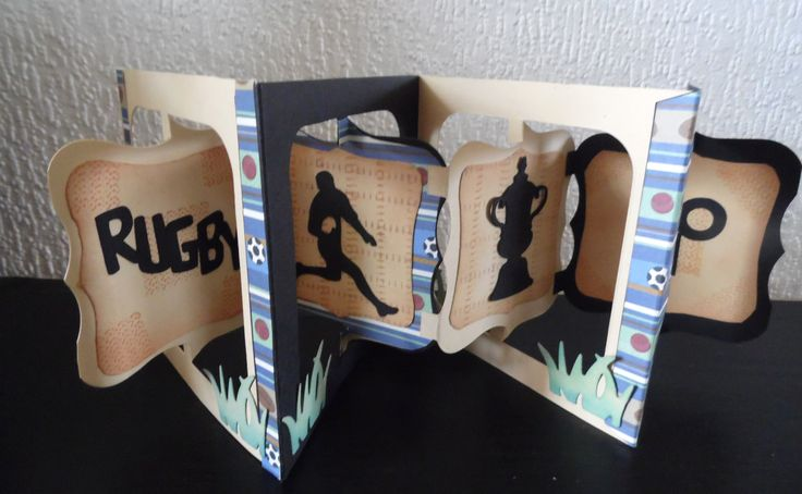 Wedding Gift Ideas Rugby : rugby ,birthday card, 3d flip accordion card Rugby Cards Pinterest ...