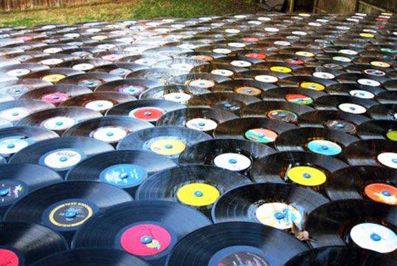 Old vinyl records used as cool, eco-friendly roofing material