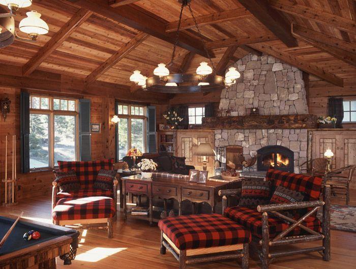 304 Best Cabin Interiors Images On Pinterest