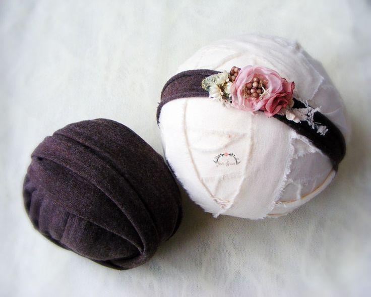 Wrap and headband set, Newborn props, Wrap set, Headband set, Photography set, Photo prop set by AraSASA on Etsy