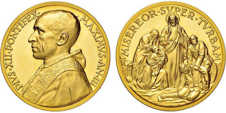 NumisBids: Nomisma Spa Auction 50, Lot 328 : Pio XII (1939-1958) Medaglia A. III Invocazioni di Pace – Bart. 941...