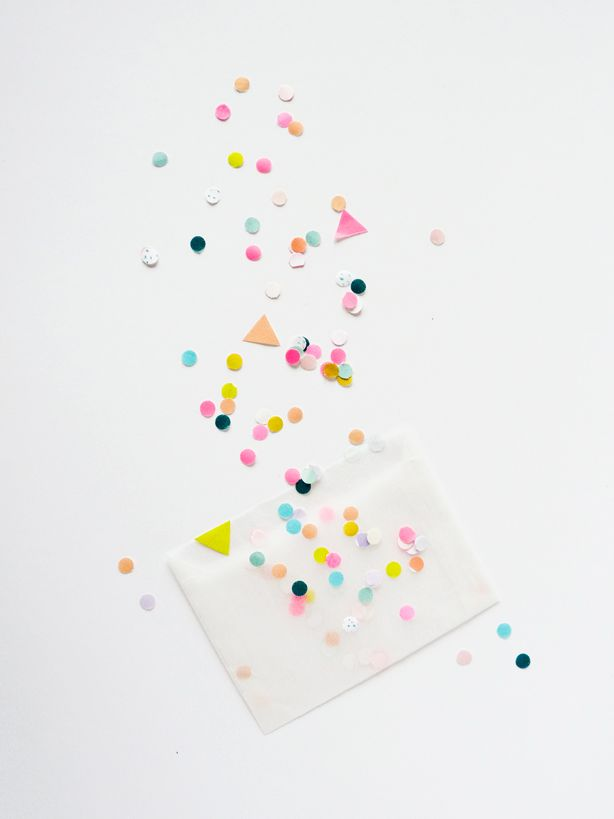 Party #Confetti #pink #green #color