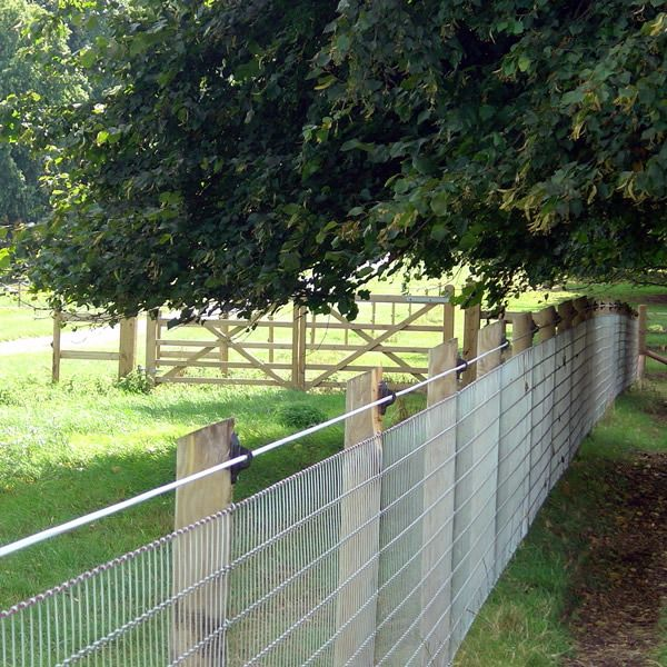 Put a sight rail on the top with the electric wire and it'll keep horses in no problem and keep them off the fence.