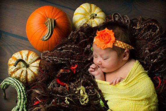 Halloween Headband..Newborn Headband..Orange Headband..Headband..Infant Headband..Baby Headband..Halloween Headbands