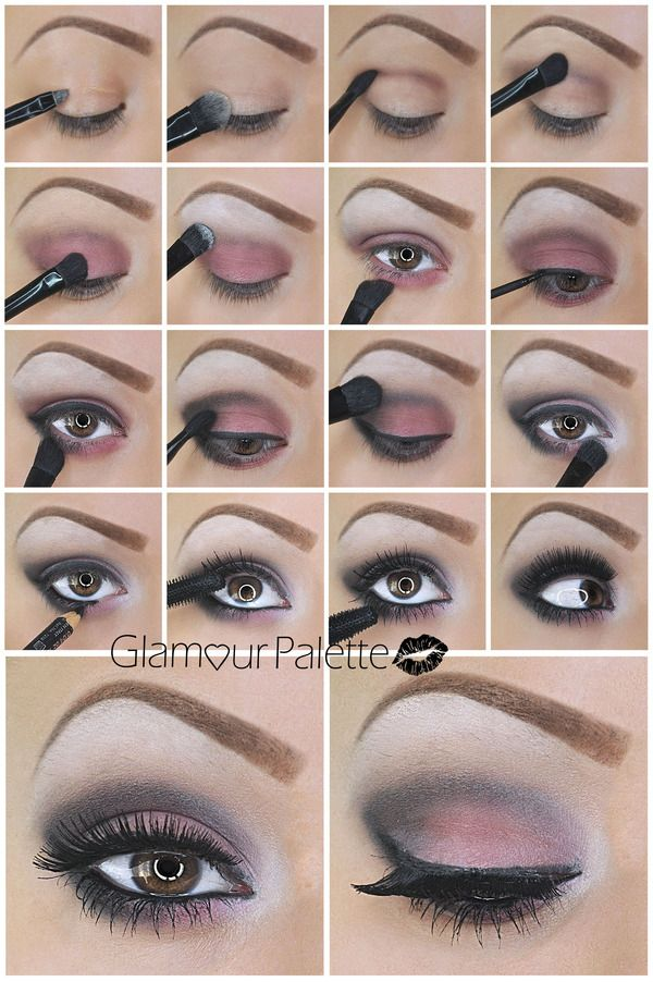 How To Pinky Red Smoky Eyes