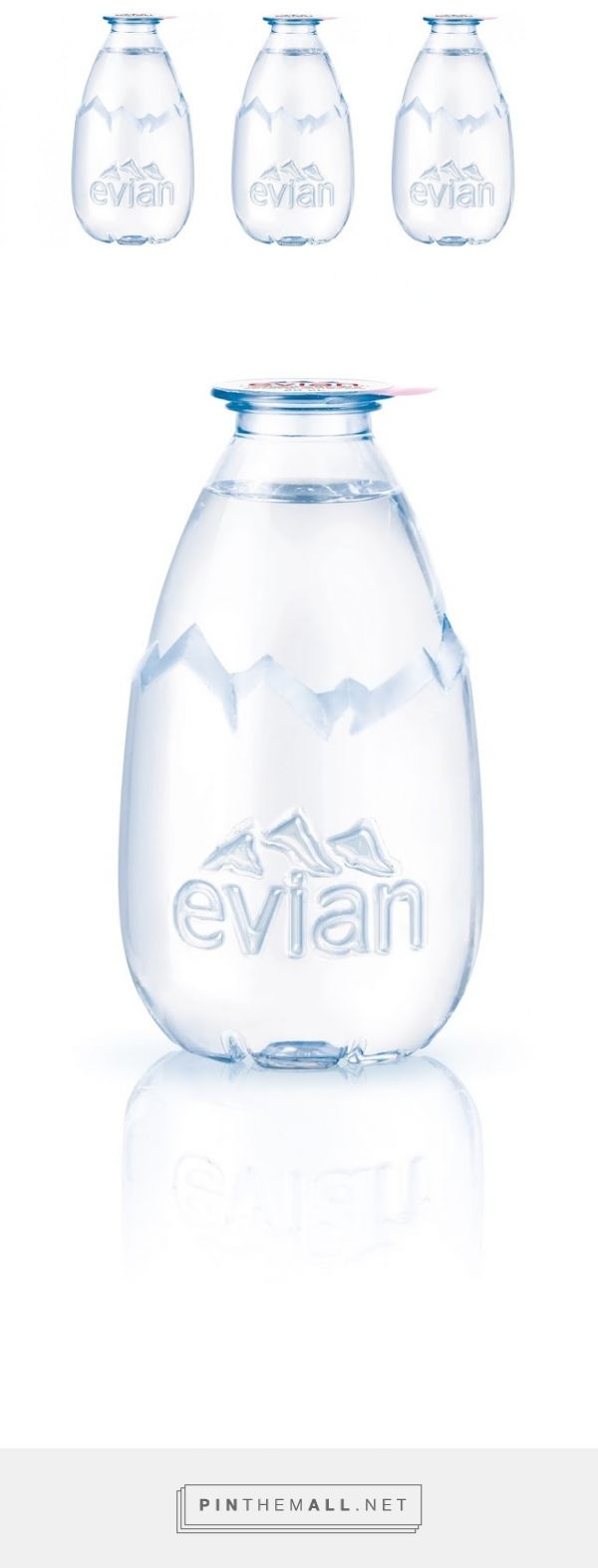 La Goutte d'evian evian packaging designed by Grand Angle Design​ - http://www.packagingoftheworld.com/2015/08/la-goutte-devian.html