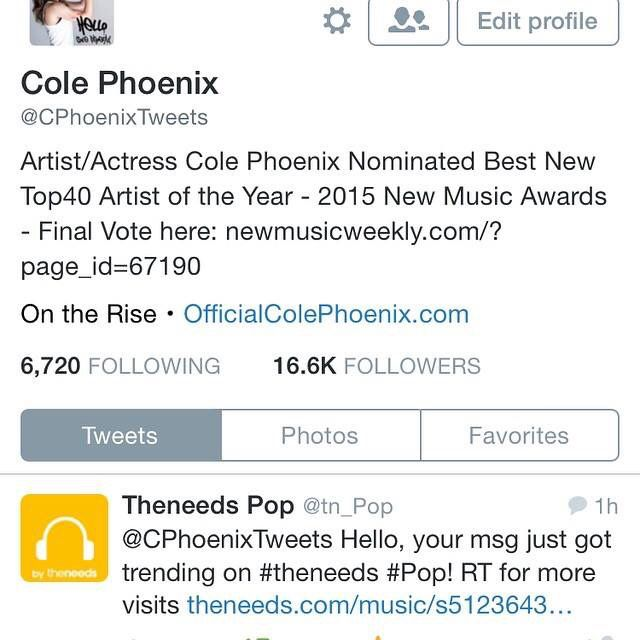 @tn_Pop: @CPhoenixTweets Hello, your msg just got trending on #theneeds #Pop! RT for more visits http://t.co/WgSuEFvKmH
