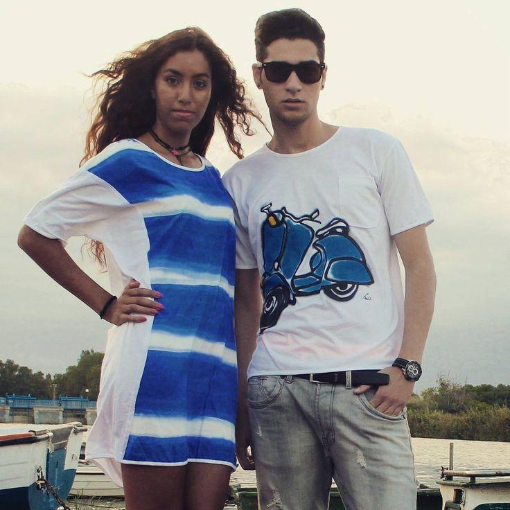 Original T-shirts - Diseños de Jorge Berlato Sobre Camisetas Y Vestidos De Verano Pintados A Mano.