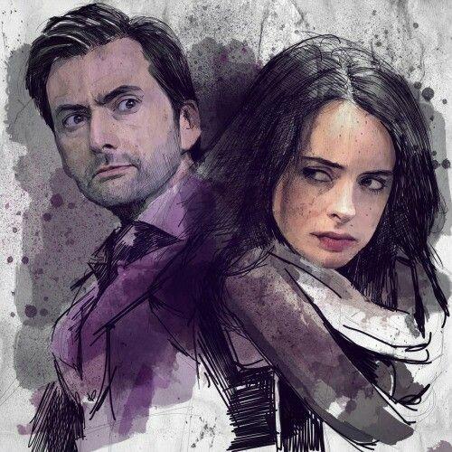Jessica and Kilgrave fan art - Jessica Jones Marvel