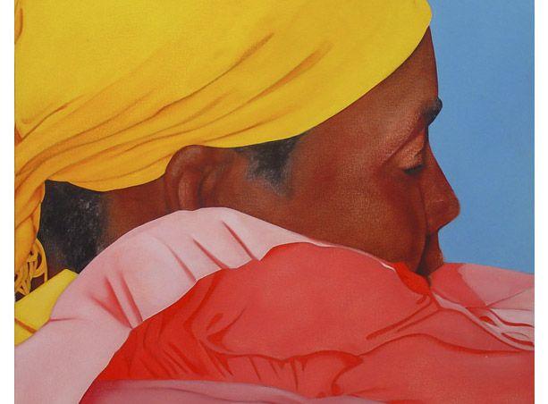Fragmento de Zenit de Ana Mercedes Hoyos. Óleo sobre lienzo.