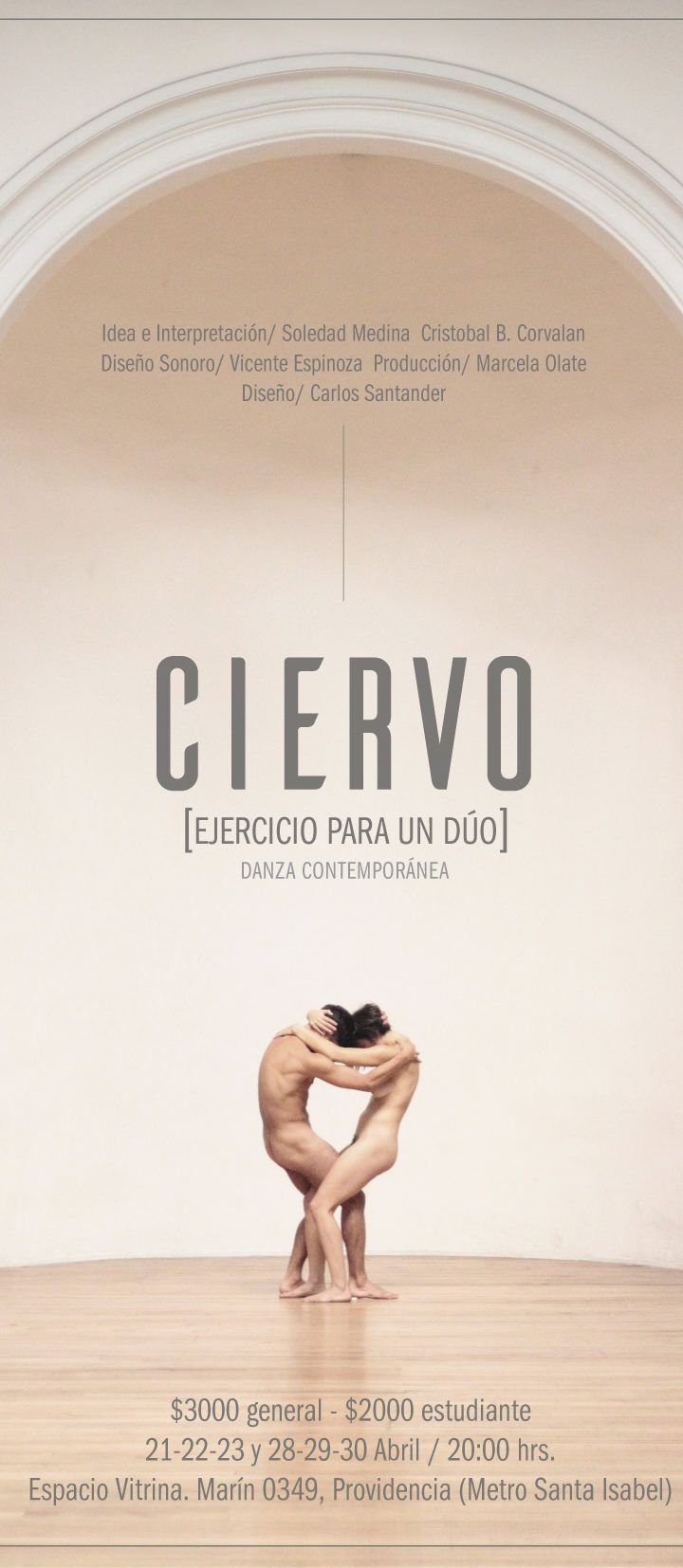 Danza contemporánea: CIERVO en La Vitrina