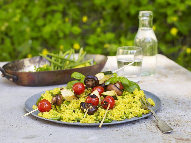 Paella med grillede grønnsaker